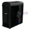 CiT Dragon³ Midi Black Case With 12cm Red LED Fans & Side Window  - Alternative image