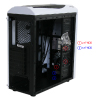 CiT Dragon³ Mid-Tower White Case With 12cm Blue LED Fans & Side Window  - Alternative image