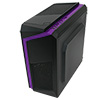 CiT F3 Black Micro-ATX Case With 12cm Purple LED Fan & Purple Stripe - Alternative image