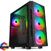 View more info on CiT Flash Gaming Matx Case 4x ARGB fans TG Front and Side Panels EPE...