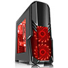 View more info on CiT G Force Black Case 1 x USB3 2 x12cm Red 15 LED Front Fans...