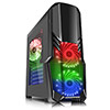 CiT G Force Black PC Gaming Case with 2 x RGB Front 1 x Rear Fans & Remote - Alternative image