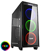 View more info on CiT Halo Mid-Tower RGB Gaming Case With 3 x Halo Single-Ring RGB LED Fans...
