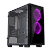 CiT Halo Mini MATX RGB Gaming Case With 2 x Single-Ring RGB LED Fans - Alternative image