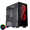 View more info on CiT Halo Mini MATX RGB Gaming Case With 2 x Single-Ring RGB LED Fans...