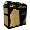 CiT Illusion Micro ATX Case Black with 1 x 15 LED Blue Front Fan 1 x USB 3.0  - Alternative image
