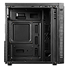 CiT Inferno Red Midi Tempered Glass Gaming Case 3 x Red Dual Side LED Fans - Alternative image