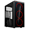 View more info on CiT Inferno Red Midi Tempered Glass Gaming Case 3 x Red Dual Side LED Fans...