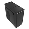 CiT Jet Stream Black Midi Case With Silver Stripe 500W Power Supply - Alternative image