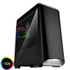 View more info on CiT Legend Black MATX RGB Gaming Case With Full Acrylic Side Window...