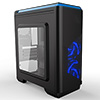 CiT Lightspeed Black Case With Inbuilt LED Light System 2x LED Blue Fans USB3 x1 - Alternative image