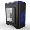 CiT Lightspeed Black Case With Inbuilt LED Light System 2x LED Blue Fans USB3 x1 - Alternative image