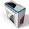 CiT Lightspeed White Case With Inbuilt LED Light System 2x LED Red Fans USB3 x1 - Alternative image