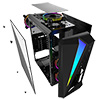 CiT Mars ARGB Black Gaming Case Glass Window USB3.0 HD Audio EPE 4 Fans MB Sync - Alternative image
