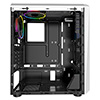 CiT Mars ARGB White Gaming Case Glass Window USB3.0 HD Audio EPE 4 Fans MB Sync - Alternative image