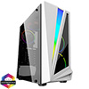 View more info on CiT Mars ARGB White Gaming Case Glass Window USB3.0 HD Audio EPE 4 Fans MB Sync...