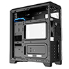 CiT Matrix Black Mid-Tower PC Gaming Case with Rainbow 75 LED Front Panel  - Alternative image