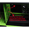 CiT Goblin Mesh Mid-Tower Gaming Case Black/Green Interior USB3 12cm Green LED Toolless  - Alternative image
