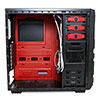 CiT Red Devil Mesh Gaming Case Black/Red Interior USB3 12cm Red LED Toolless - Alternative image