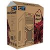 CiT Red Devil Mesh Gaming Case Black/Red Interior USB3 12cm Red LED Toolless - Alternative image