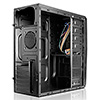 CiT Venom Mesh Mid-Tower Gaming Case Black Interior 12cm Blue LED Fan - Alternative image