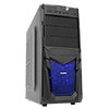 View more info on CiT Venom Mesh Mid-Tower Gaming Case Black Interior 12cm Blue LED Fan...
