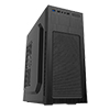 View more info on CiT Mini Falcon Black ATX Midi Tower With 1 x USB3 HD Audio 1 x 8cm Rear Fan...