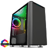 View more info on CiT Omega Solid Front With 1 ARGB Fan Included and ARGB Hub With Tempered Glass...