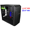 CiT Phaser Black Midi Case 1 x USB3 3 x USB2 1 x 9cm  Rear Fan Black 500W PSU - Alternative image