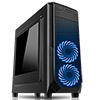 CiT Prism Black RGB Case With 2 x RGB Front Fans 1 x USB 3.0 & Side Window - Alternative image