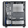 CiT Raider Gaming Case With 4 x Halo Ring Blue Fans Tempered Glass Front Panel - Alternative image