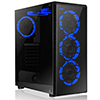 View more info on CiT Raider Gaming Case With 4 x Halo Ring Blue Fans Tempered Glass Front Panel...