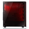 CiT Raider Mid-Tower Gaming Case With 4 x Halo Ring Red Fans Tempered Glass Front Panel - Alternative image