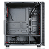 CiT Raider Gaming Case With 4 x Halo Ring Red Fans Tempered Glass Front Panel - Alternative image