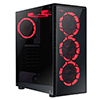 View more info on CiT Raider Gaming Case With 4 x Halo Ring Red Fans Tempered Glass Front Panel...