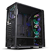 CiT Raider Mid-Tower Gaming Case 4 x Halo Spectrum RGB Fans Tempered Glass Front and Side MB SYNC - Alternative image