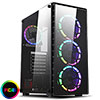 View more info on CiT Raider Mid-Tower Gaming Case 4 x Halo Spectrum RGB Fans Tempered Glass Front and Side MB SYNC...