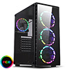 View more info on CiT Raider Gaming Case 4 x Halo Spectrum RGB Fans Glass Front and Side MB SYNC...