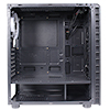 CiT Raider Mid-Tower Gaming Case With 4 x Halo Ring Blue Fans Tempered Glass Front Panel - Alternative image