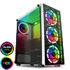 View more info on CiT Raider White 4 x Halo Spectrum RGB Fans Glass Front and Side MB SYNC...