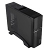 CiT S012B Black Slim Micro ATX or ITX Case 300W PSU Built-in Card-reader - Alternative image