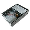 CiT S014B Black Slim Micro ATX or ITX Case 300w PSU Built-in Card-Reader - Alternative image