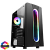 View more info on CiT Sauron Gaming Case ARGB Front Strip 1x ARGB Fan TG Side Panel EPE...