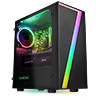 CiT Seven MATX Gaming Case Rainbow RGB Strip 1 x Rainbow RGB Fan Acrylic Side - Alternative image