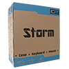 CiT Storm Black Atx Case 1 x 12cm Green LED Front Fan+ Keyboard & Mouse Set - Alternative image
