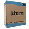 CiT Storm White Atx Case 1 x 12cm Red LED Front Fan + Keyboard & Mouse Set - Alternative image