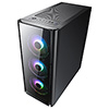 CiT Tornado ATX Case 4x ARGB Fans TG Front and Side Panel EPE - Alternative image