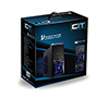 CiT Vantage Blue Midi Mesh Gaming Case Black Interior 4 Fans (3 Blue LED) Card Reader No PSU - Alternative image