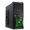 View more info on CiT Vantage Gaming Case Black HD Audio Green LED Fans Card Reader 500w...