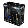 CiT Vanquish Gaming Case USB3 Toolless Side Window 2 x 12cm Blue LED Fans Retail   - Alternative image